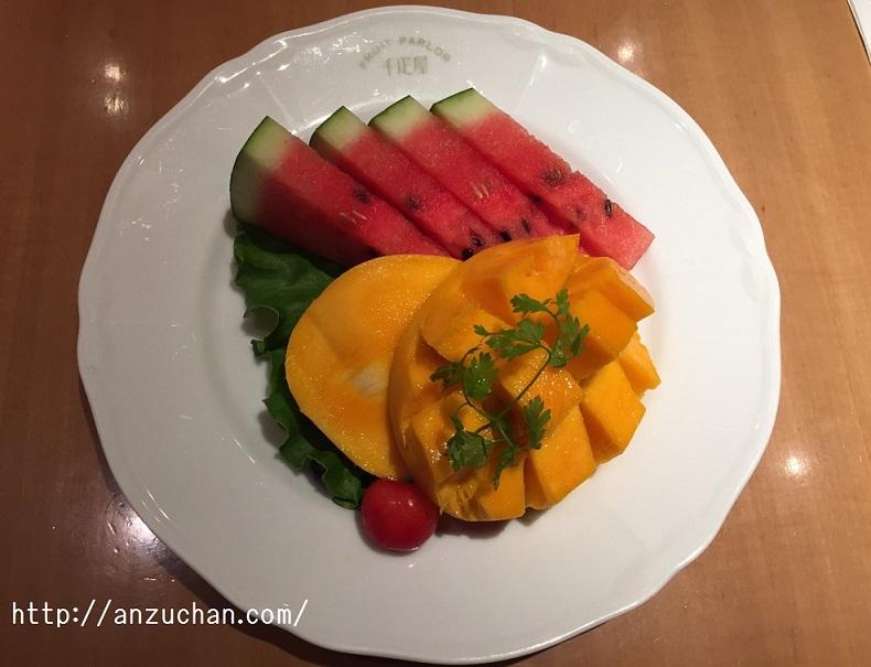 フルーツの2種盛り